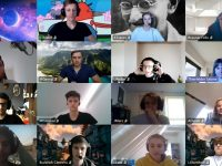 P-Seminar Mathe digital bei einer Videokonferenz